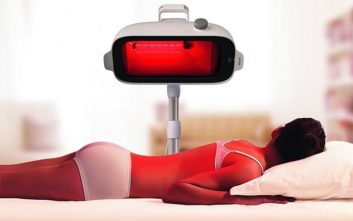 wirkung einer rotlichtlampe oder infrarotkabine. Black Bedroom Furniture Sets. Home Design Ideas